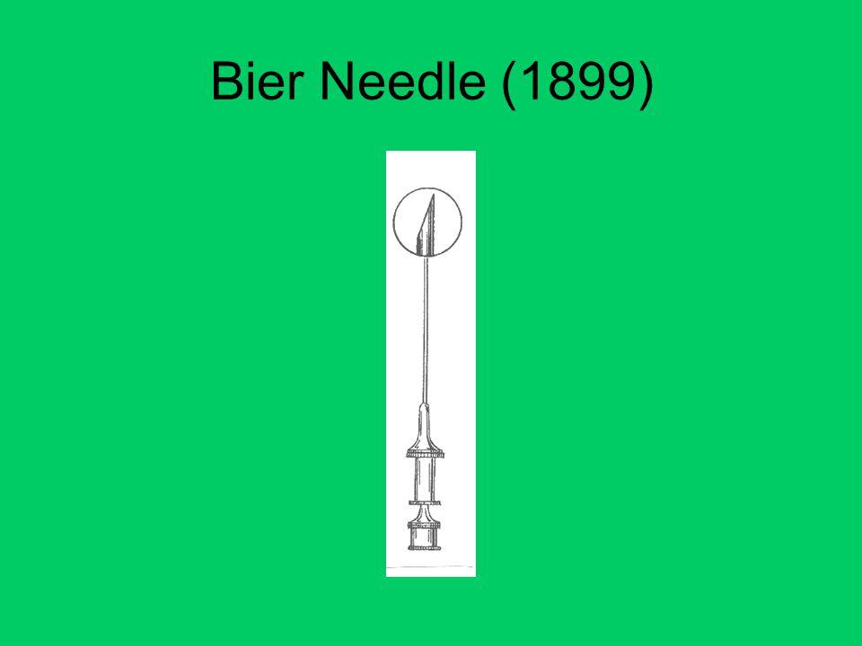 Bier Needle (1899)
