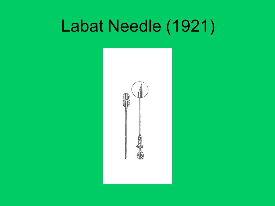 Labat Needle (1921)