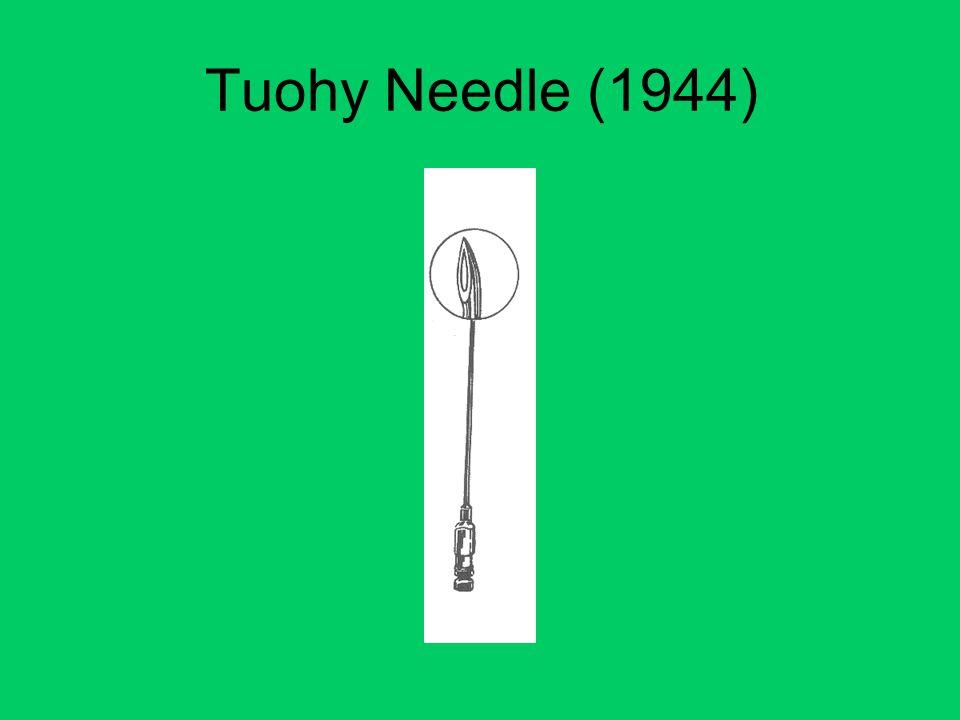 Tuohy Needle (1944)