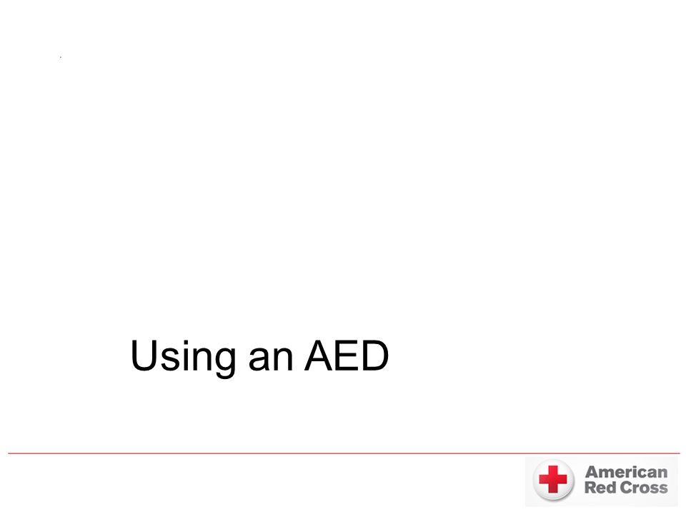 Using an AED