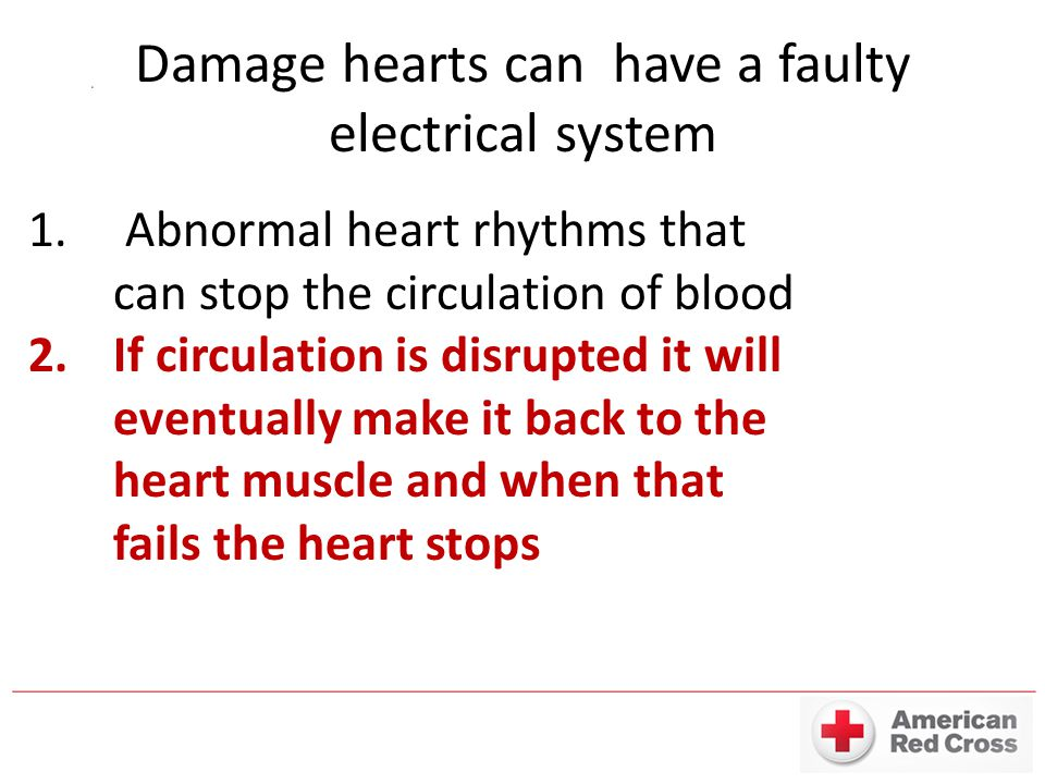 Damage hearts can have a faulty electrical system