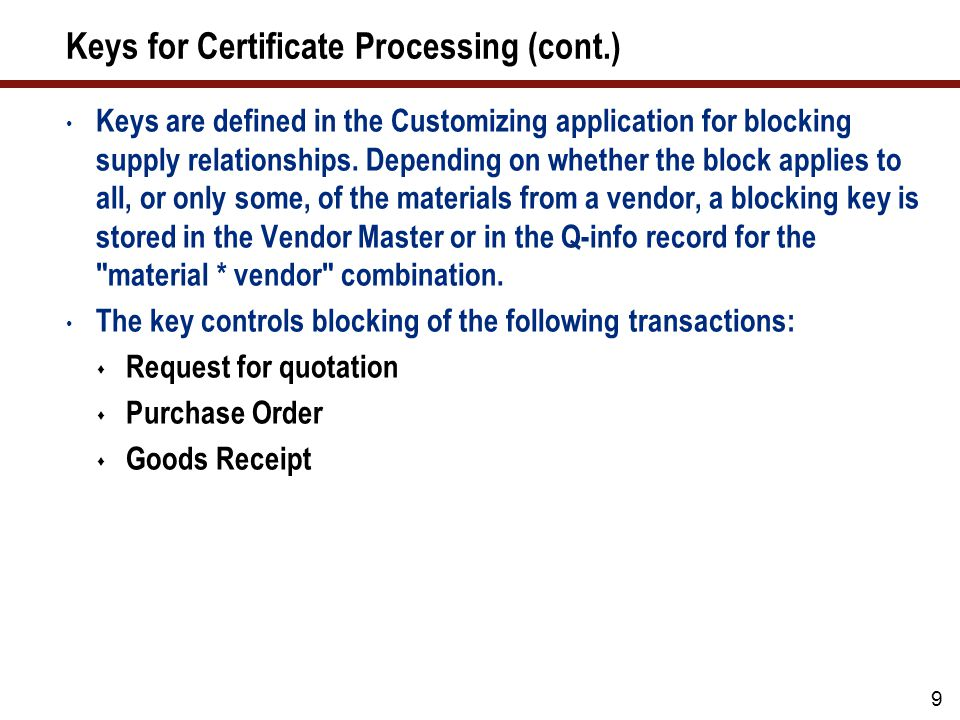 Document Types There are two types of system support for exchanging Q documents with vendors: Technical delivery terms (document type Q02)
