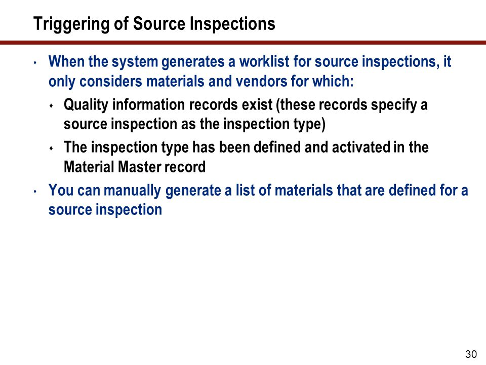 Triggering Source Inspections Manually