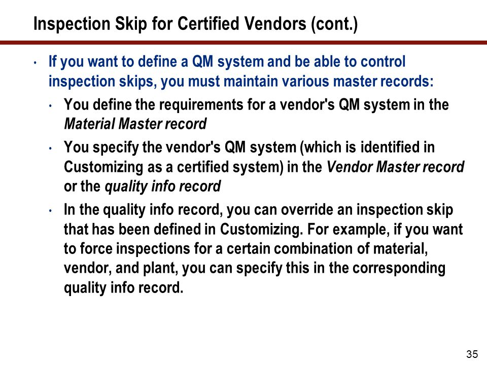 Quality Certificate for Goods Receipt