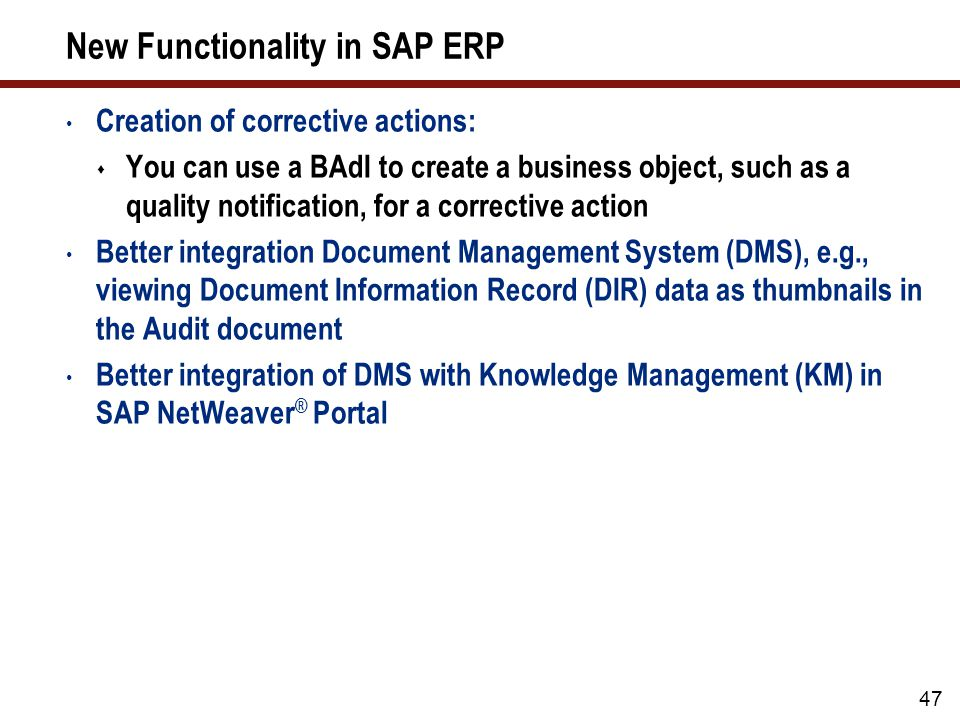What We'll Cover … Why use SAP Quality Management (QM)