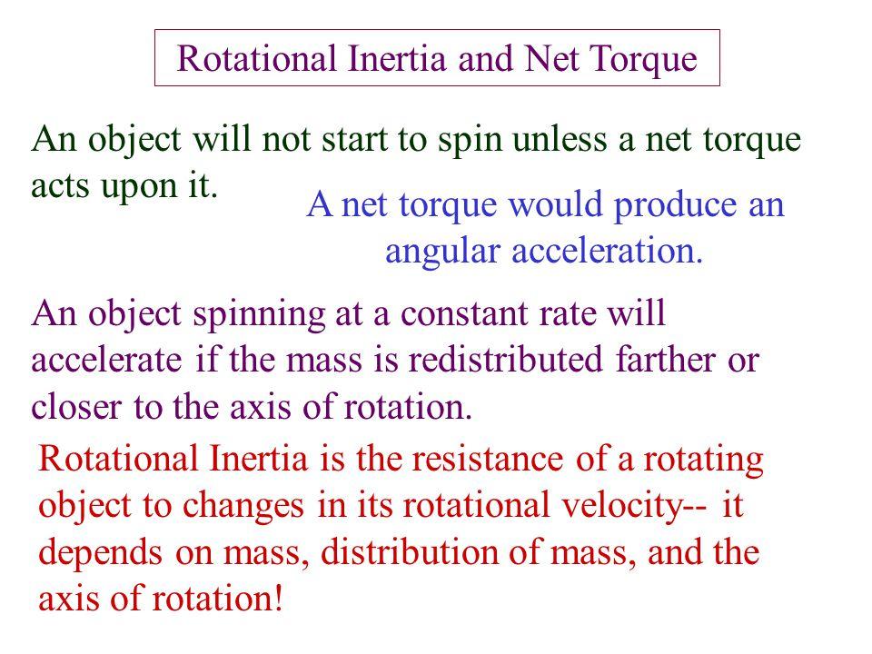 Rotational Inertia and Net Torque