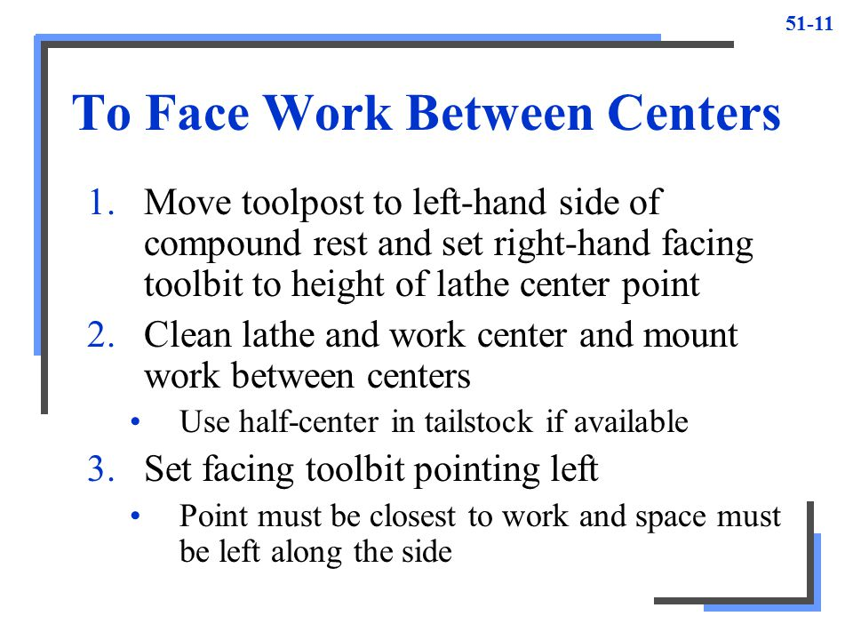 To Face Work Between Centers