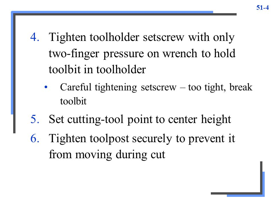 Set cutting-tool point to center height