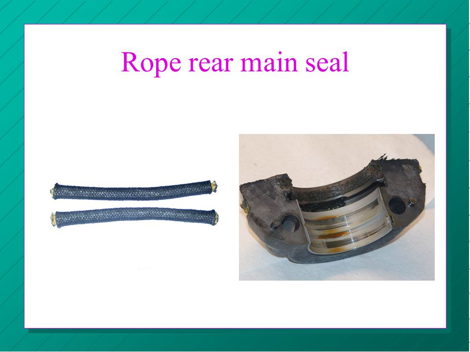 Rope rear main seal