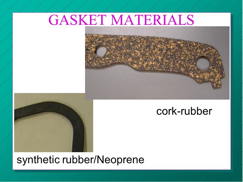 GASKET MATERIALS cork-rubber synthetic rubber/Neoprene