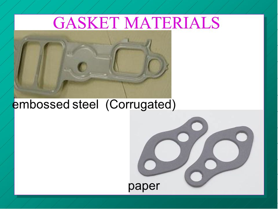 GASKET MATERIALS embossed steel (Corrugated) paper