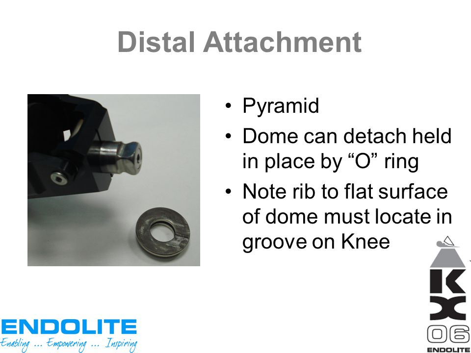 Distal Attachment Pyramid Dome can detach held in place by O ring