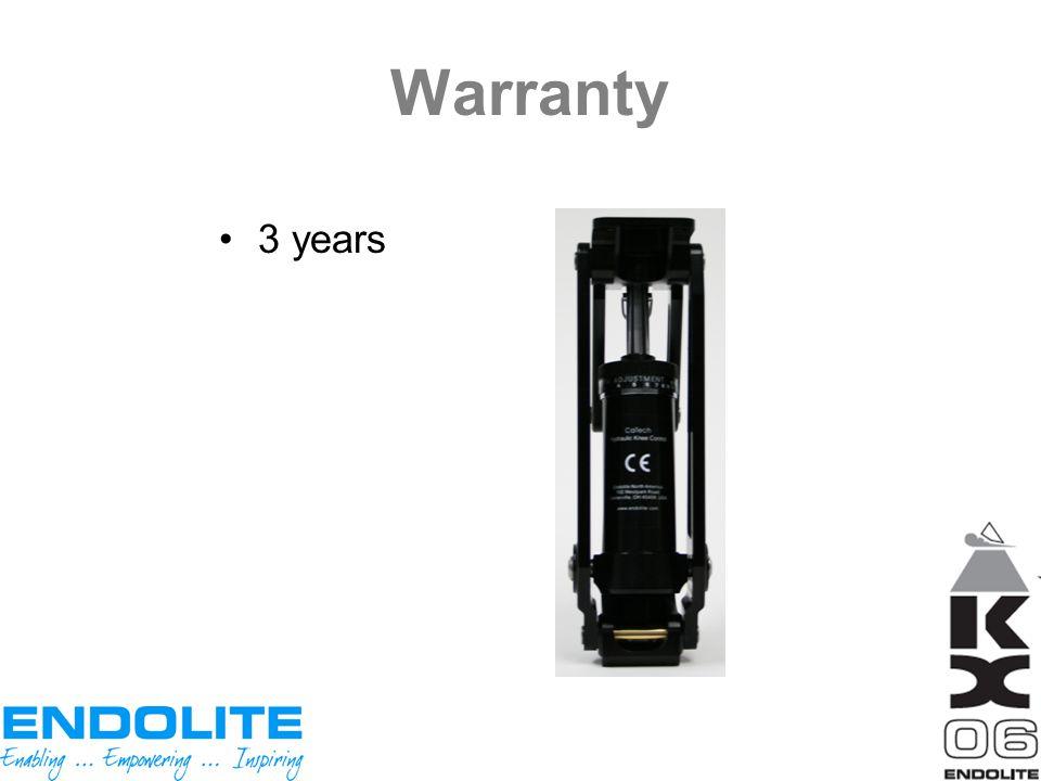 Warranty 3 years