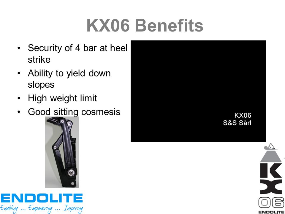 KX06 Benefits Security of 4 bar at heel strike