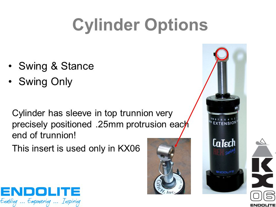 Cylinder Options Swing & Stance Swing Only