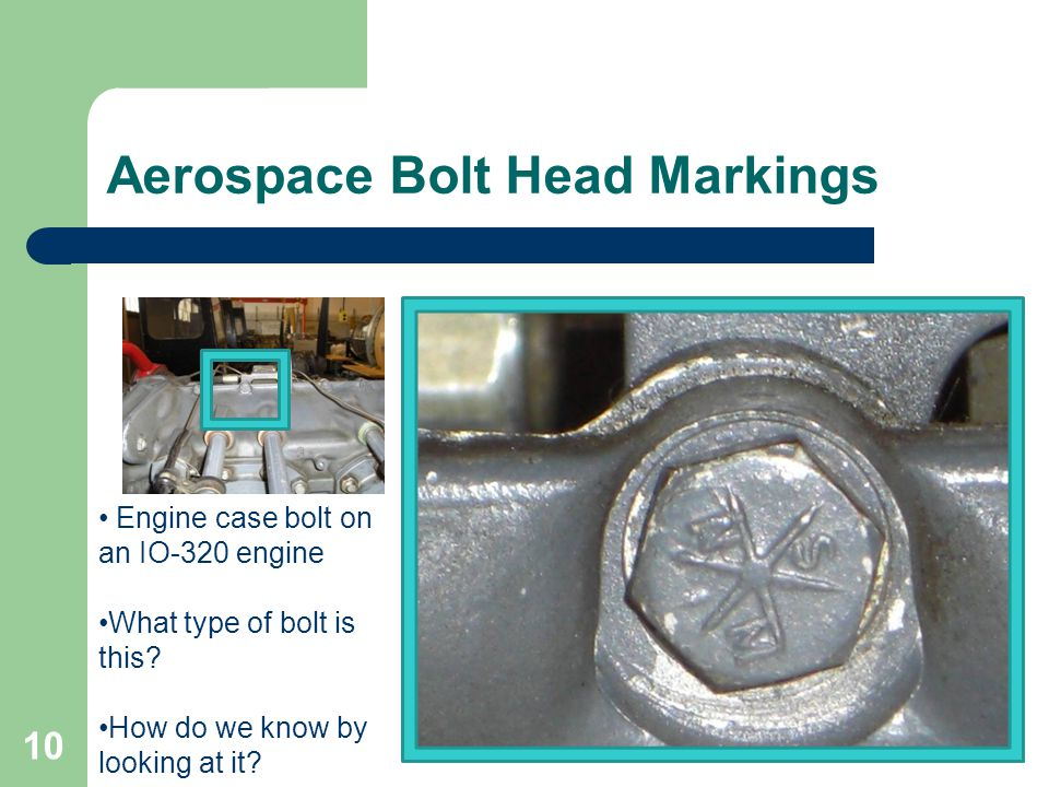 Aerospace Bolt Head Markings