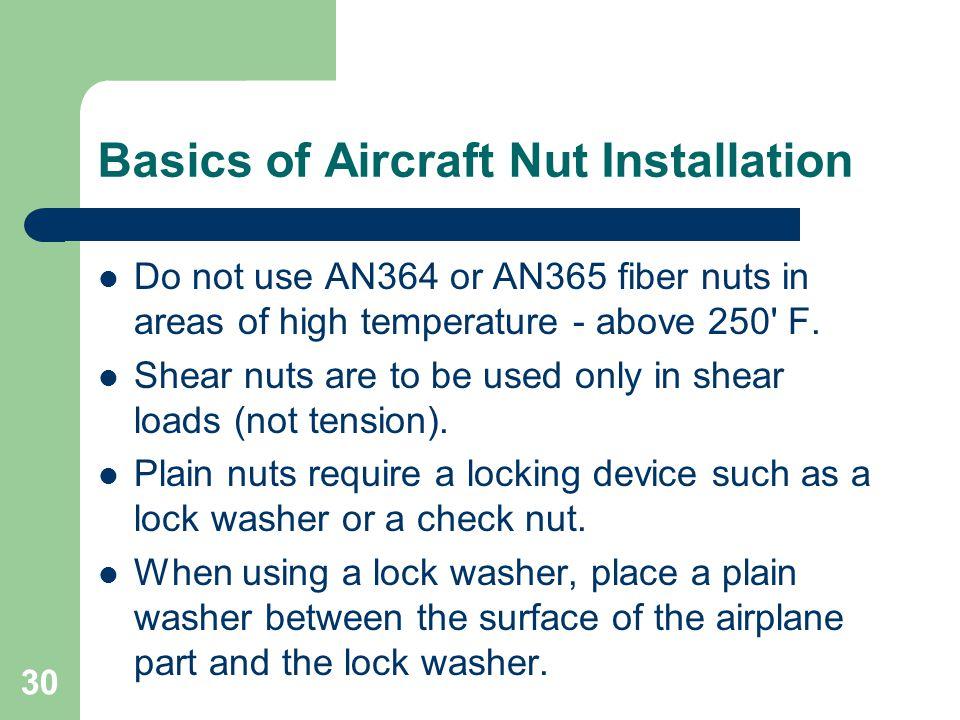 Basics of Aircraft Nut Installation