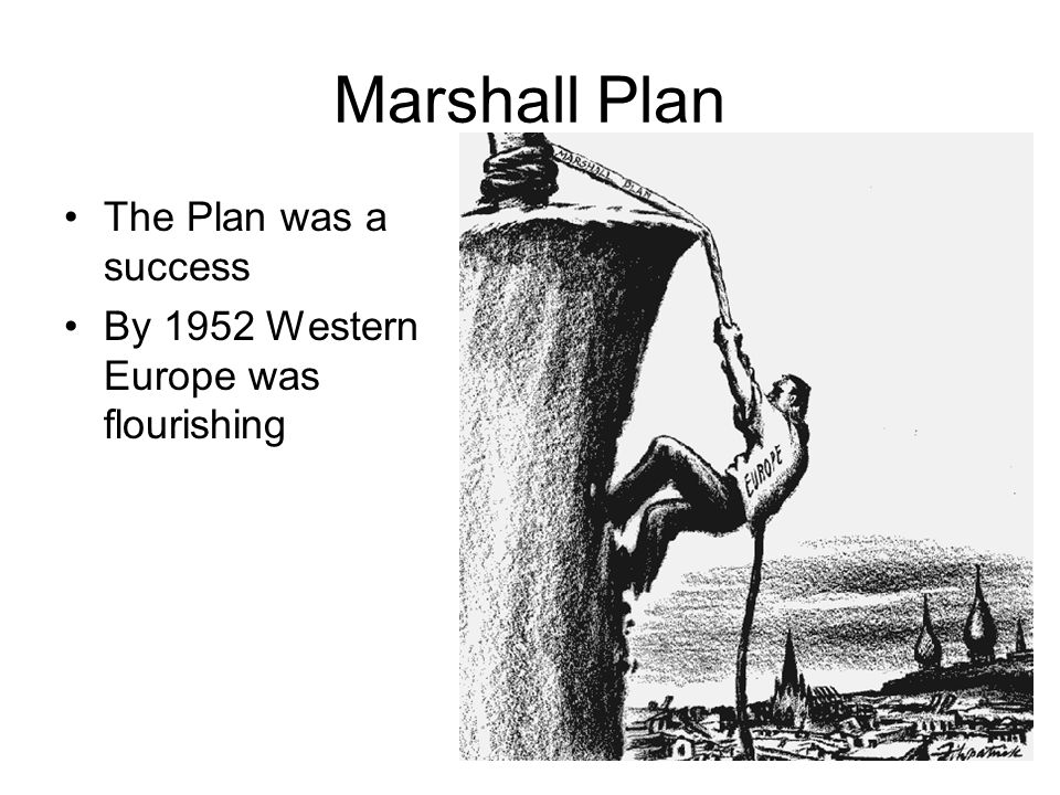 Marshall Plan The Plan was a success