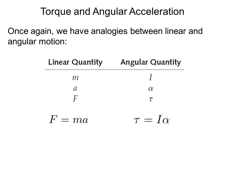 Torque and Angular Acceleration