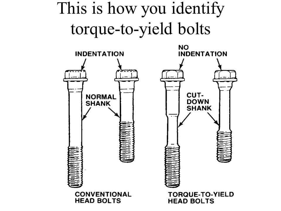 This is how you identify torque-to-yield bolts