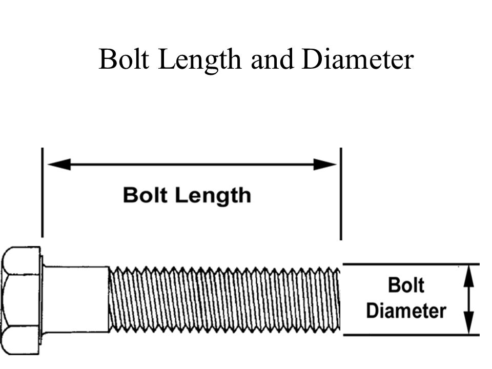 Bolt Length and Diameter