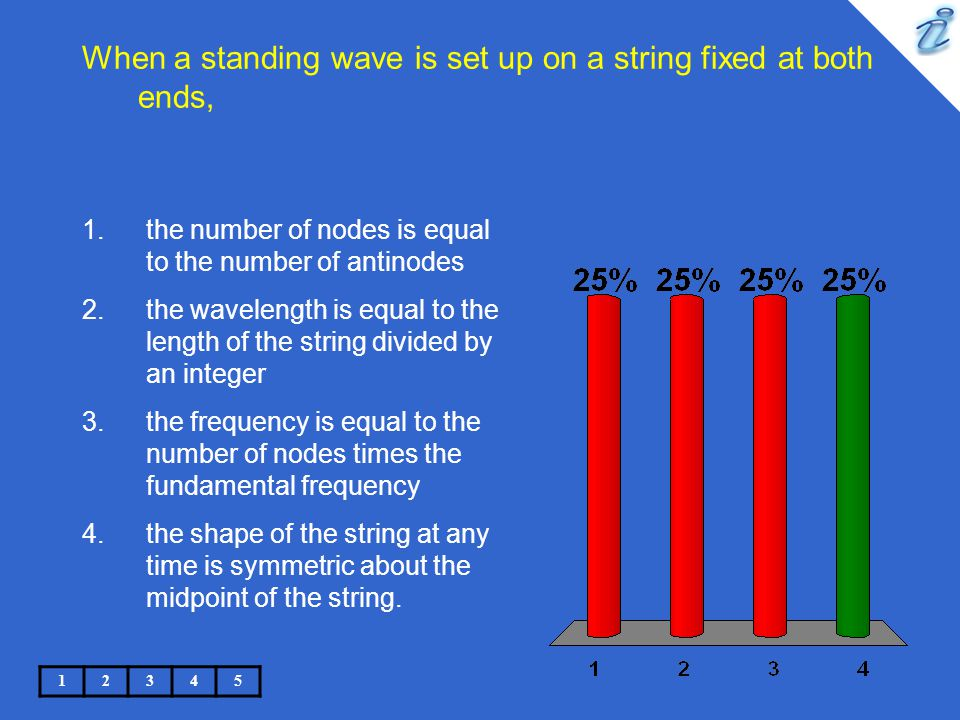 When a standing wave is set up on a string fixed at both ends,