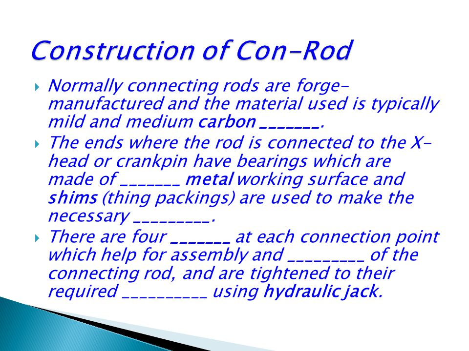 Construction of Con-Rod