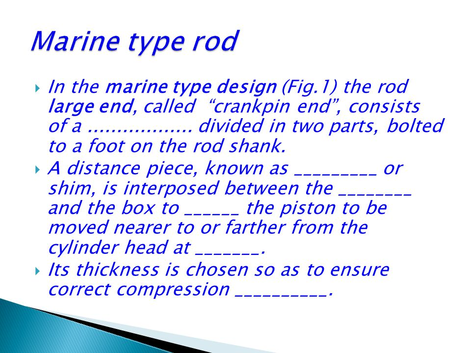 Marine type rod
