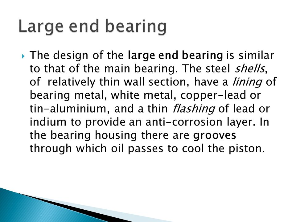 Large end bearing