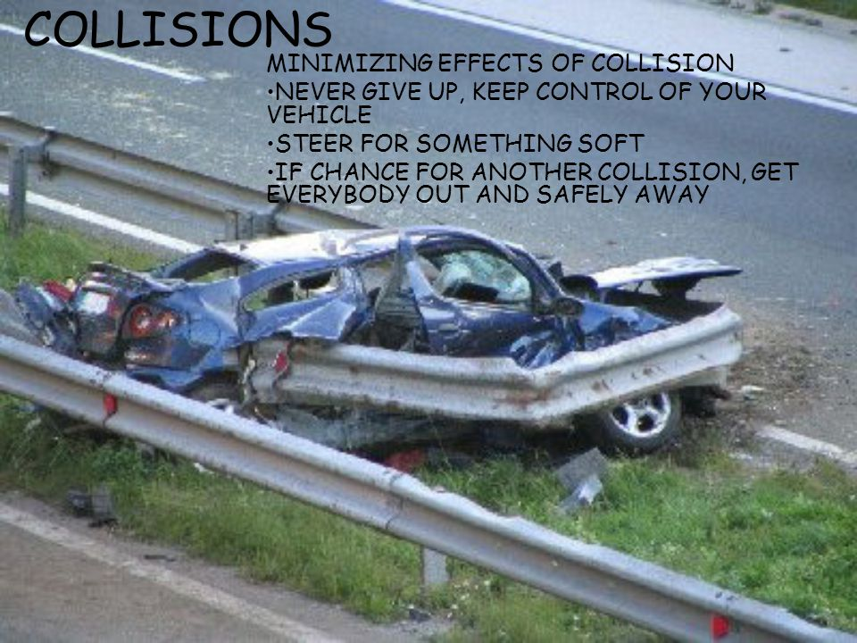 COLLISIONS MINIMIZING EFFECTS OF COLLISION