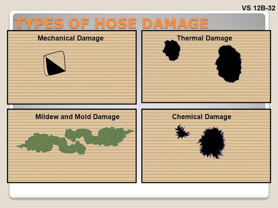 TYPES OF HOSE DAMAGE VS 12B-32 Mechanical Damage Thermal Damage