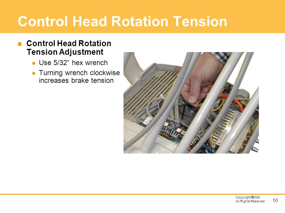 Control Head Rotation Tension