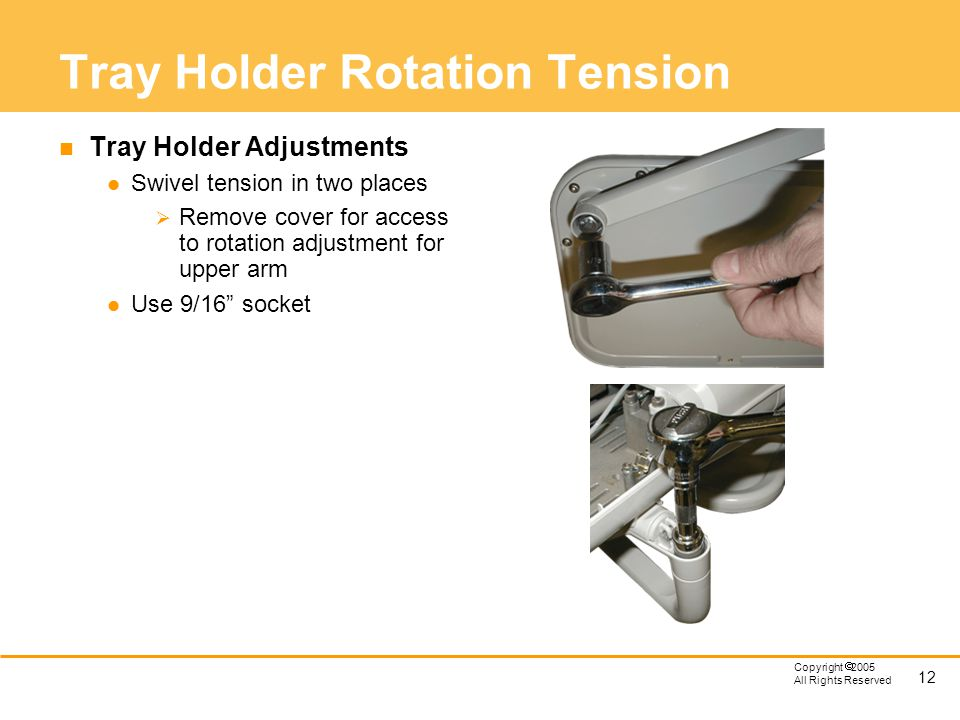 Tray Holder Rotation Tension