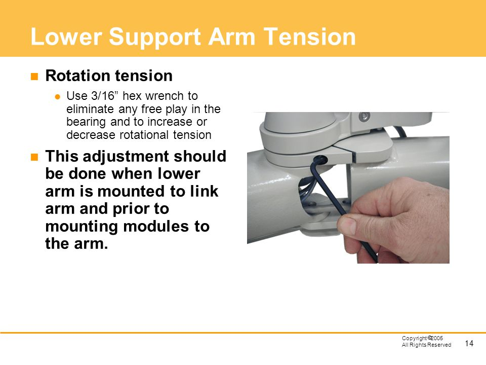 Lower Support Arm Tension