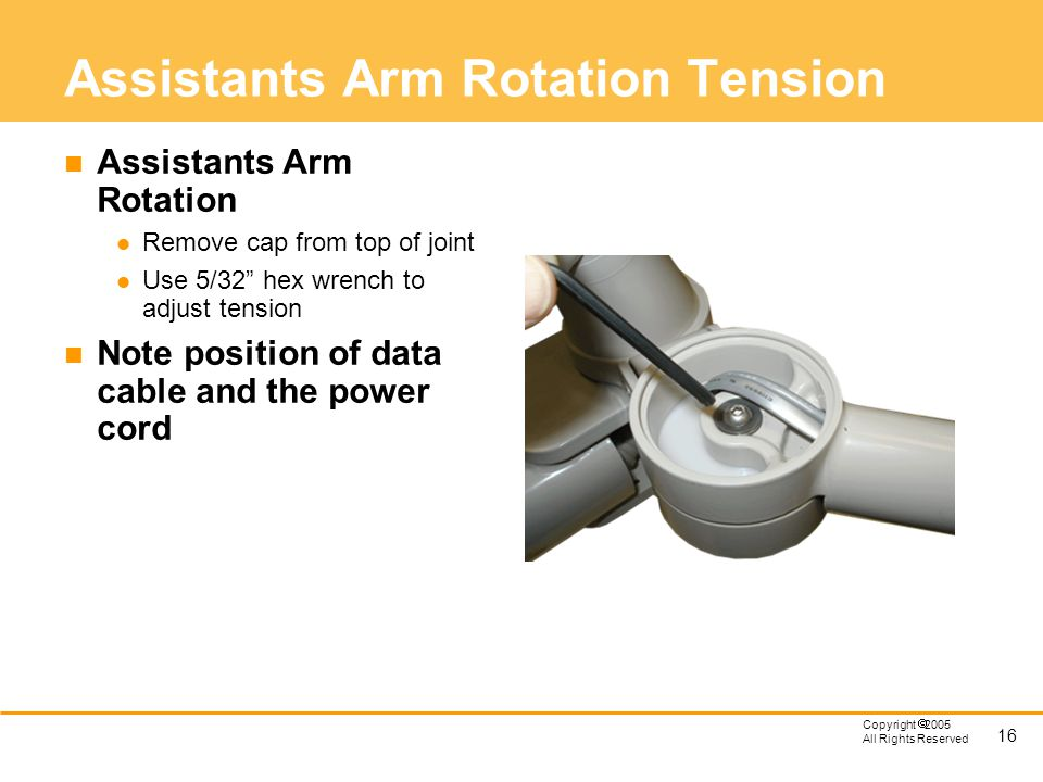 Assistants Arm Rotation Tension