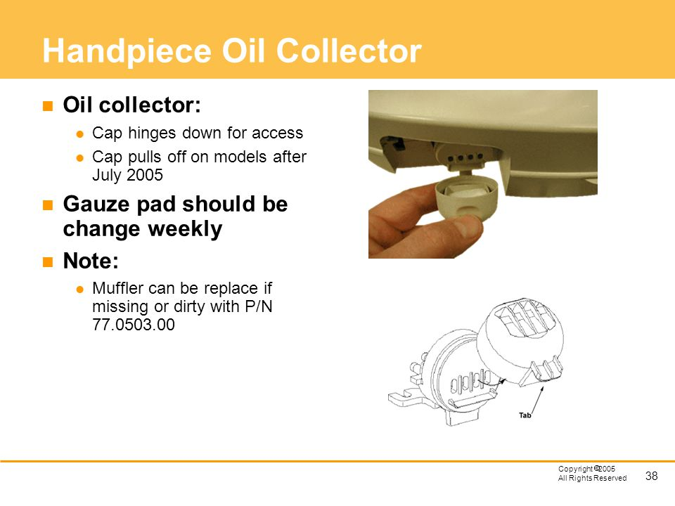 Handpiece Oil Collector