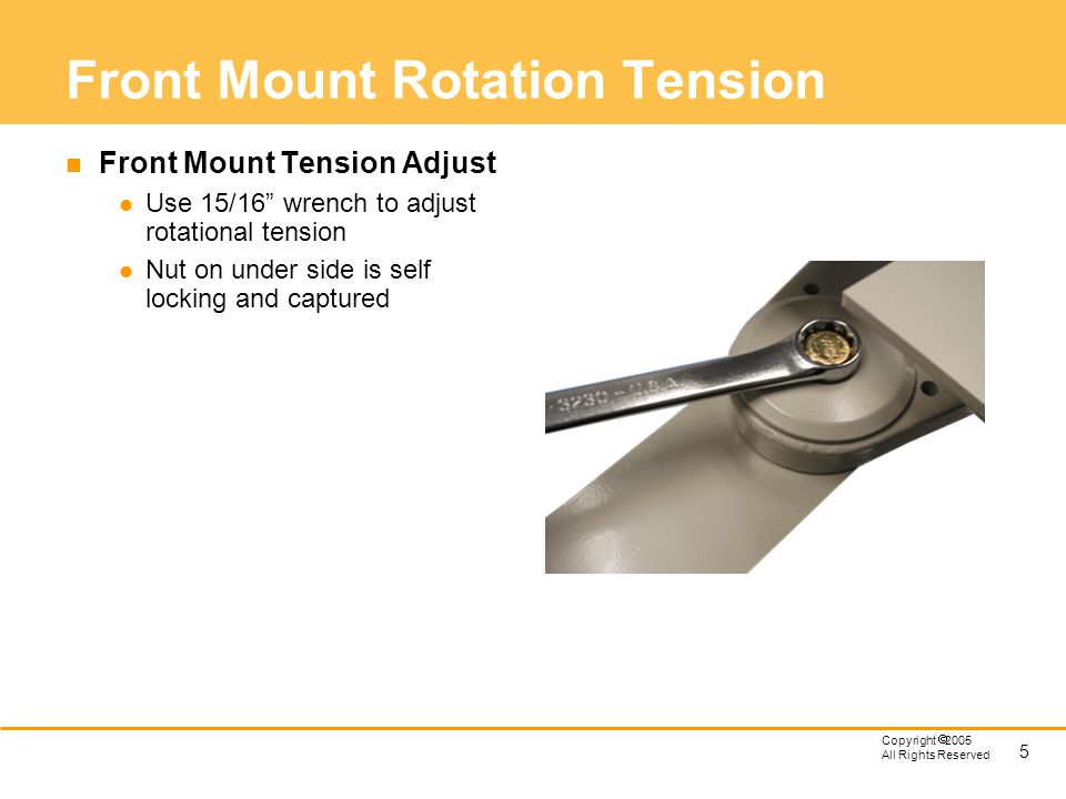 Front Mount Rotation Tension