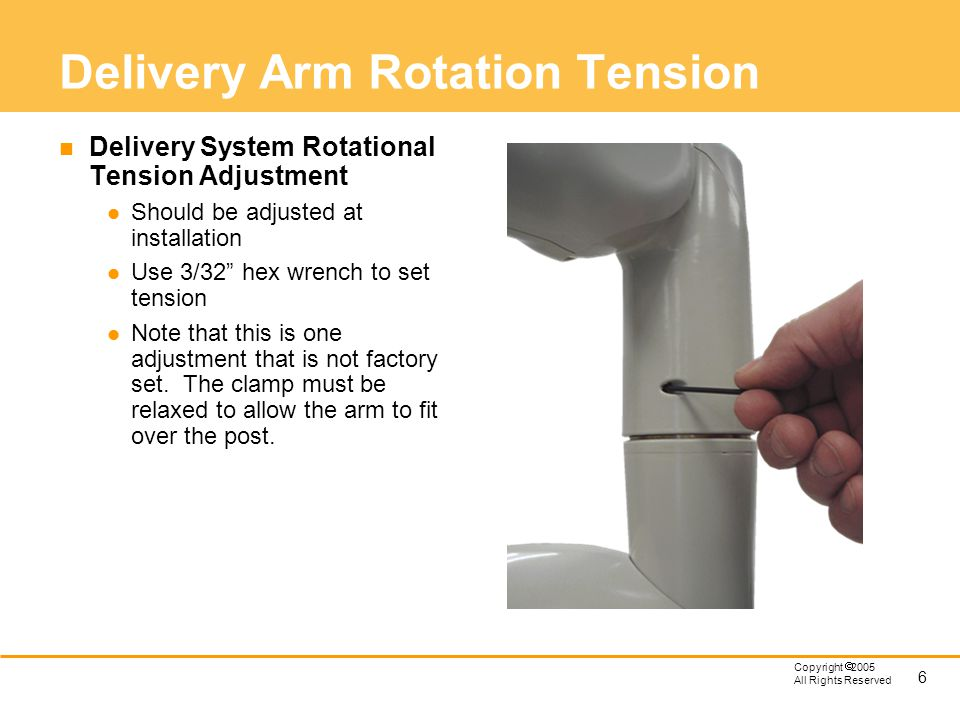 Delivery Arm Rotation Tension