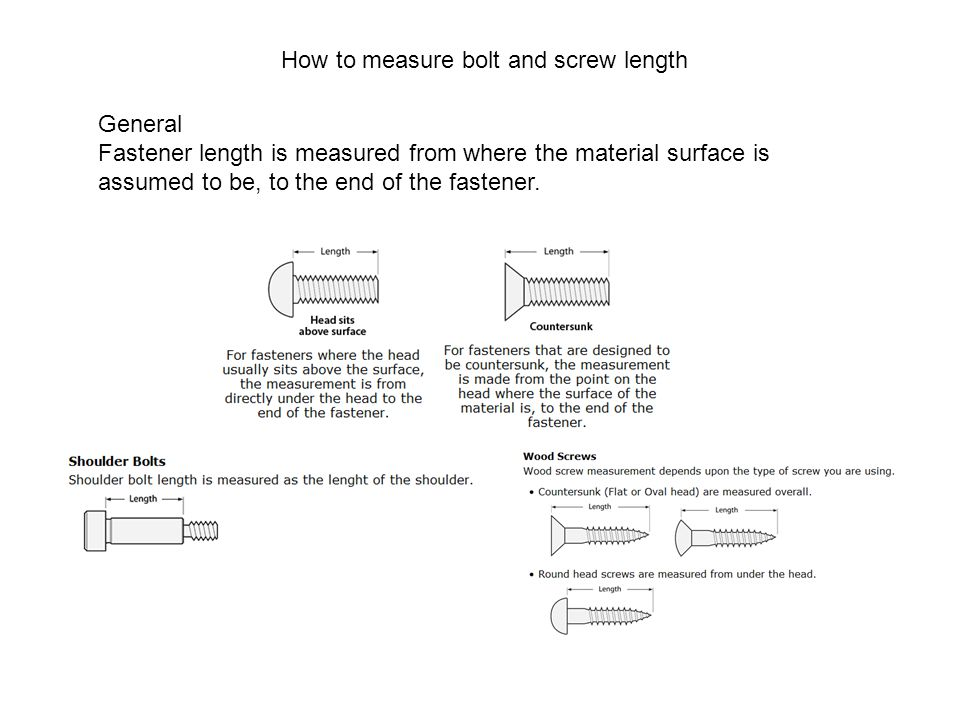 How to measure bolt and screw length
