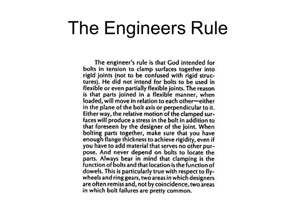 The Engineers Rule