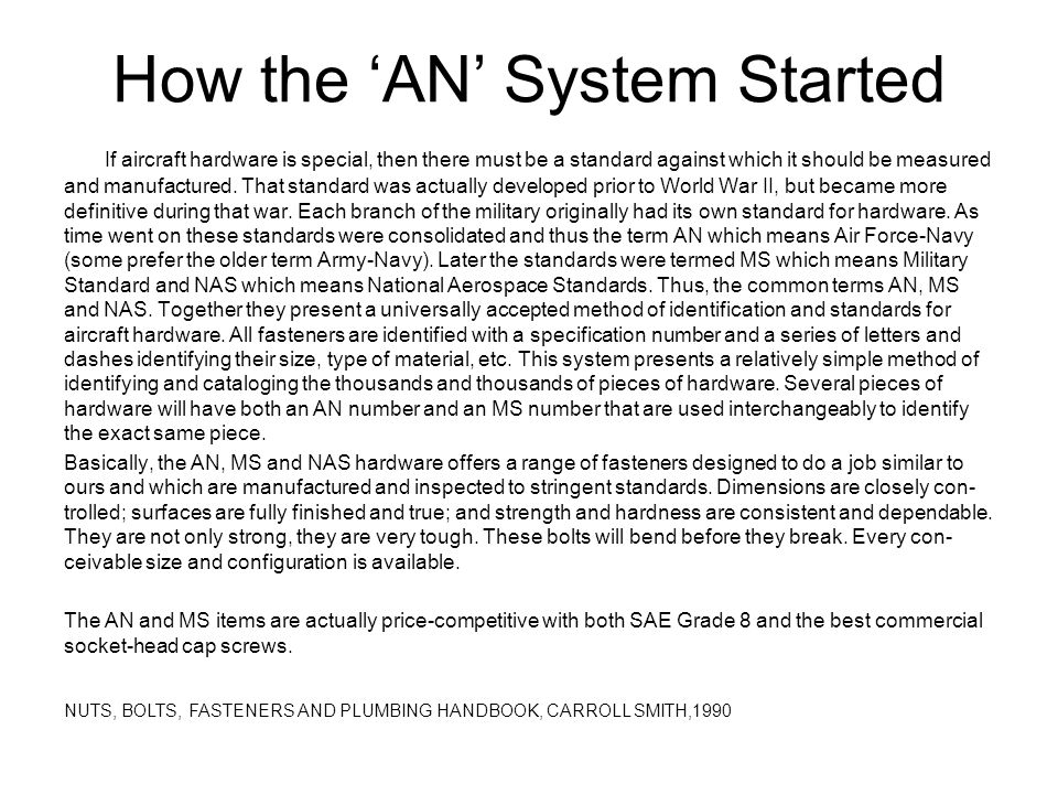 How the 'AN' System Started