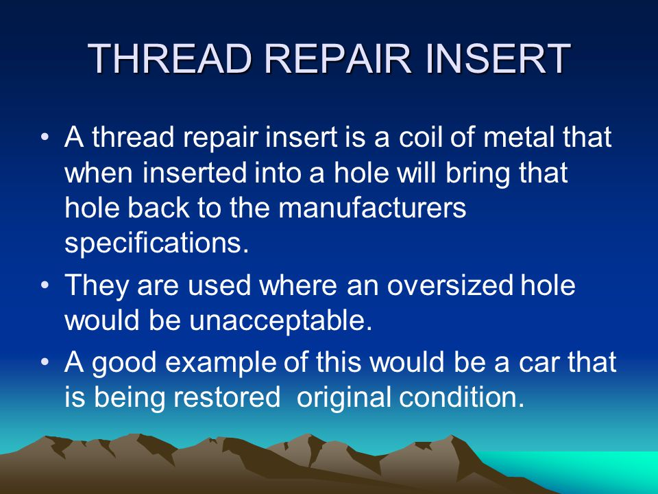THREAD REPAIR INSERT