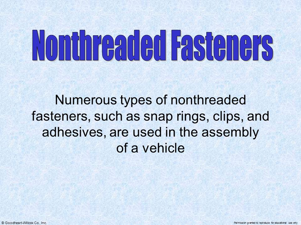 Nonthreaded Fasteners