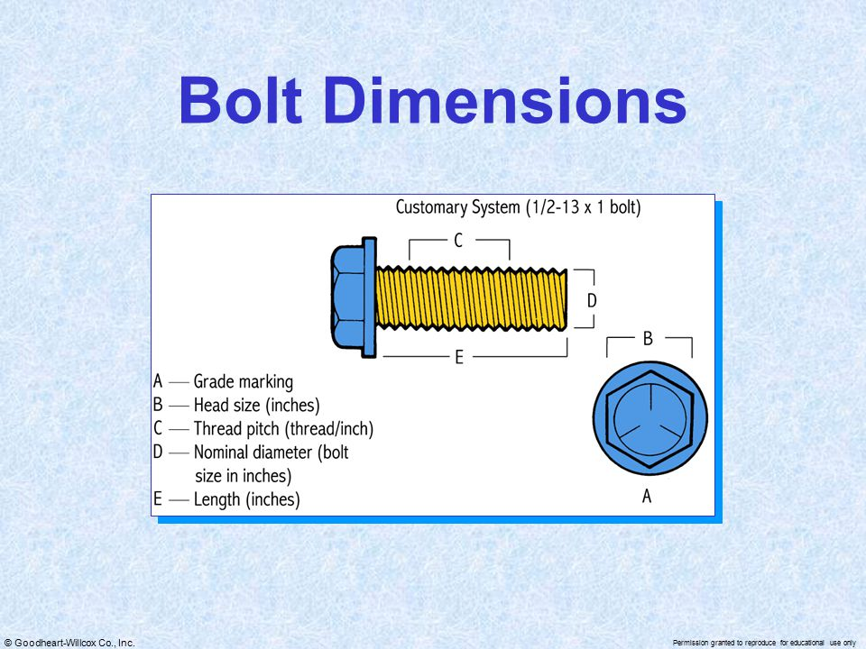 Bolt Dimensions