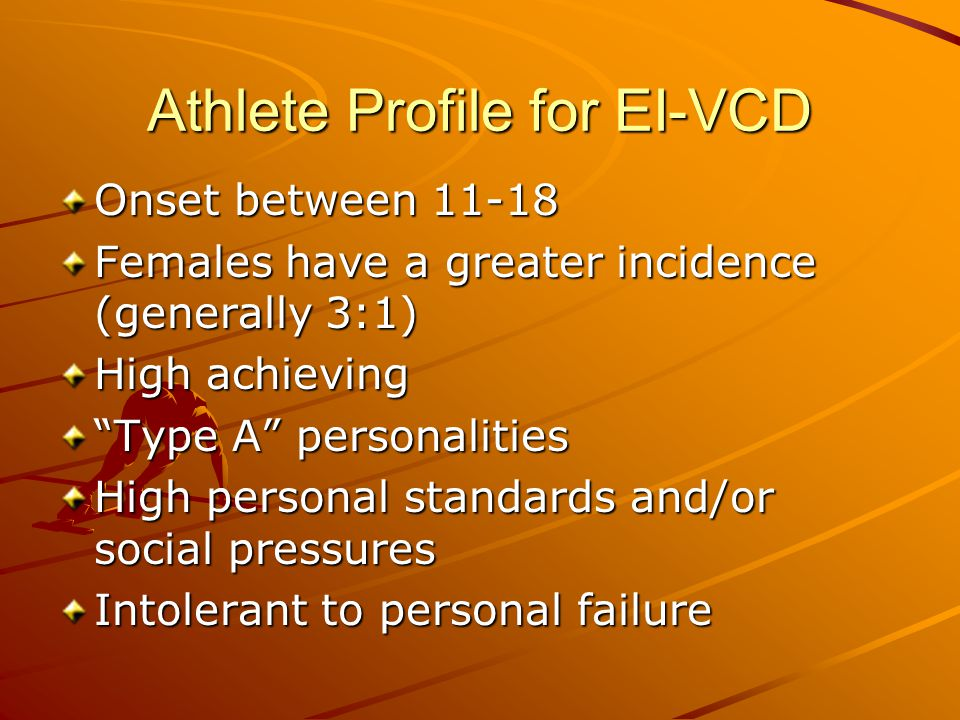 Athlete Profile for EI-VCD