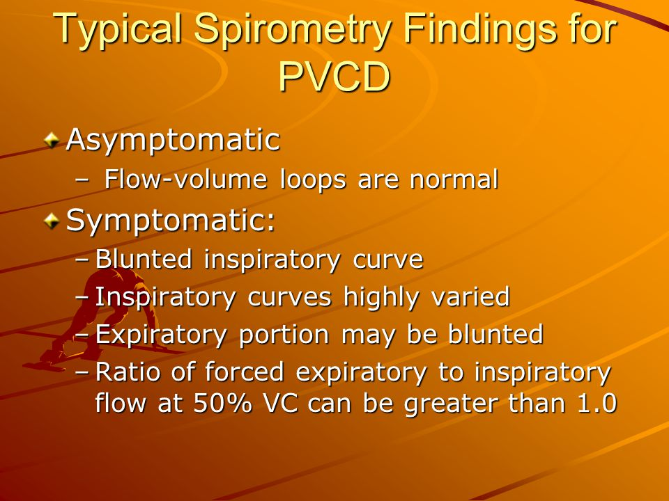 Typical Spirometry Findings for PVCD