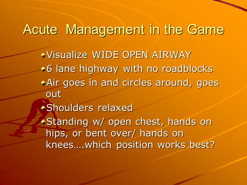 Acute Management in the Game