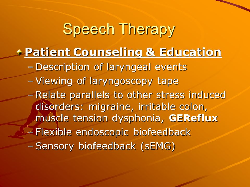 Speech Therapy Patient Counseling & Education