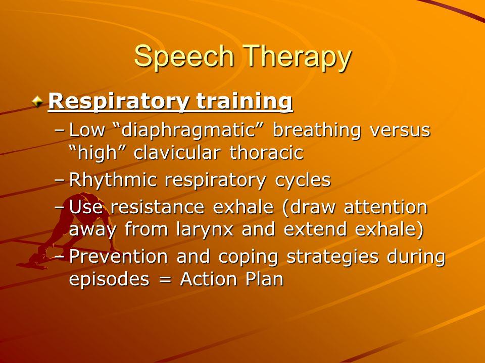Speech Therapy Respiratory training