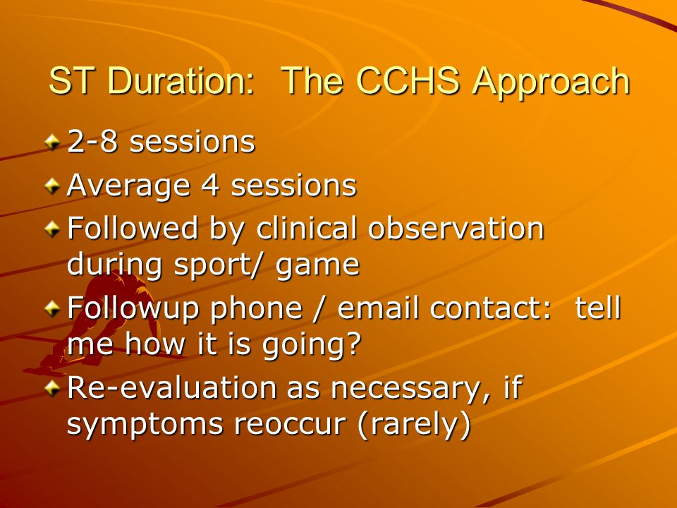 ST Duration: The CCHS Approach